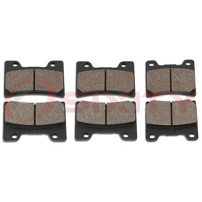 Front + Rear Organic Brake Pads 1993-2007 Yamaha VMX1200 V-Max Set Full Kit aw