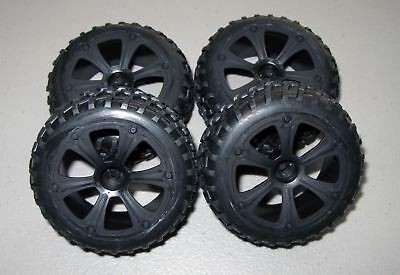 New RedCat Racing Blackout SC Front and Rear Mounted Tires & Wheels 2 Pair