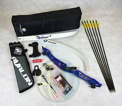 "Blue 70"" Core Archery Pro Take Down Recurve Bow & Complete Package"
