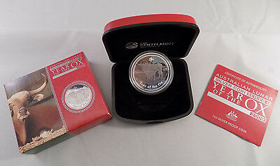 2009-P Australia $1 Year of the Ox Lunar Series II 1 oz Silver Proof with OGP