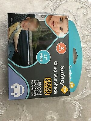 """NIP Safety 1st Auto Window Cling Sun Shade Car Protection Sheets 21"""" 2 Pack"""