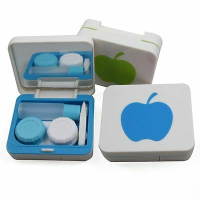 New Unisex Cleaning Case Carry Mirror Holder Contact Lens Box Container