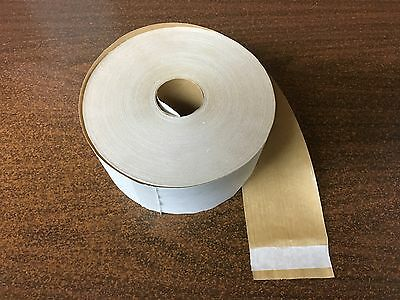 Lot Of 4 Rolls - White Reinforced Gummed Sealing Tape - 72mm x 450 Feet