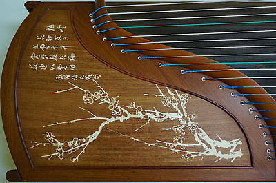Chinese Guzheng, Chinese Zither Harp, 樂海古箏梅花落 -- 古筝