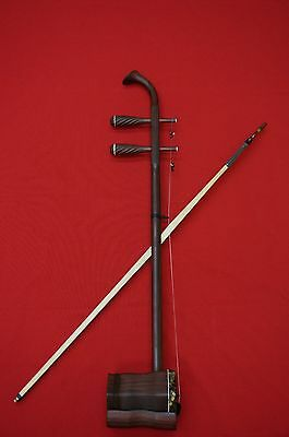 Chinese Erhu, Premium Antique Aged Rose Wood Erhu -- 樂海精品老紅木二胡 明清優質舊料