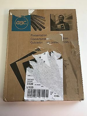 GBC Clear View Standard 11 x 8 1/2 Inch Clear Presentation Covers, 100 Count