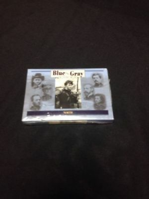 Blue Vs Gray The Civil War Card Game NORTH - QED Enigma Mint 1999 USA Deck (G30