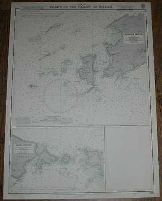 Nautical Chart No. 1482 Wales - Ramsey Sound and Jack Sound, 1970