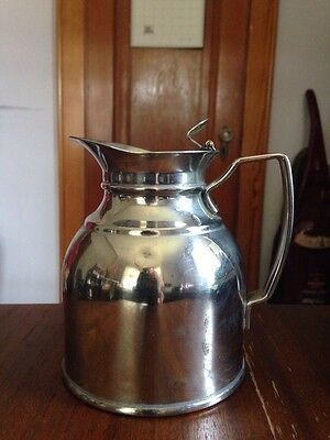 "STANLEY Landers Frary & Clark 5'' Hot Cold Carafe ""It Will Not Break"" Vintage"