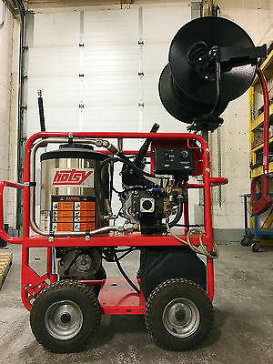 Hotsy 965SS Hot Water Honda Gas Engine 12 Volt DC 3GPM @ 3000PSI Pressure Washer