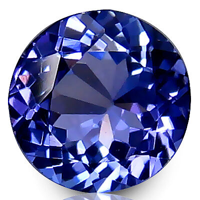 0.77 Carat Electrifying  Natural Purplish Blue Tanzanite
