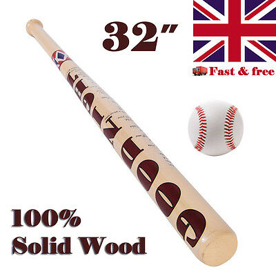 "32"" Wooden Baseball Bat Halloween Cosplay For DC Suicide Squad Harley Quinn & R"