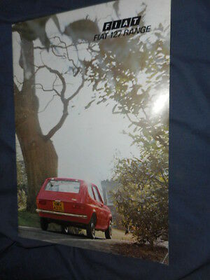 1975 Fiat 127 Hatchback UK Market Brochure Catalog Prospekt