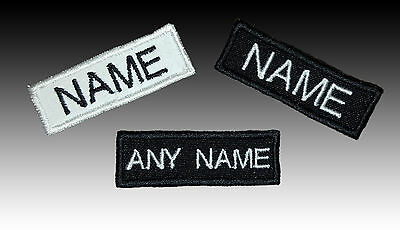 Embroidered Name tag Patch SEW ON or IRON ON