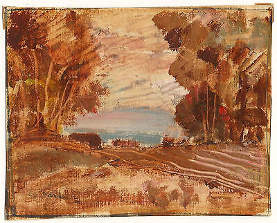 Lincoln Godfrey Morris Canadian Canada Art Original Oil Painting Autumn Signed