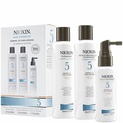 Nioxin Hair System Kit 5 Normal to Thin Looking - Medium to Coarse Hair