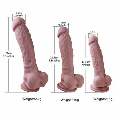 Liquid Silicone_Dildos_Realistic Soft Odorless with Strong Suction Cup