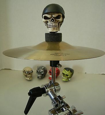 Cymbal Stand Skull head toppers 3 Iron Cross Skull heads