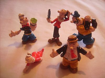 Vintage Complete Collection Of Figures Popeye And Friends