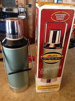 Vintage 1976 Aladdin Stanley Thermos Half Gallon A-945DH with Box