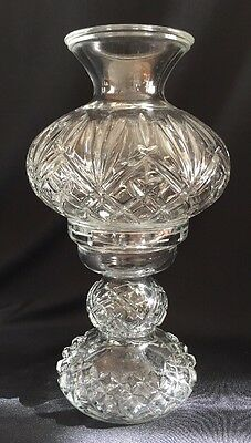 Vintage Glass Two Piece Hurricane Candle Lantern