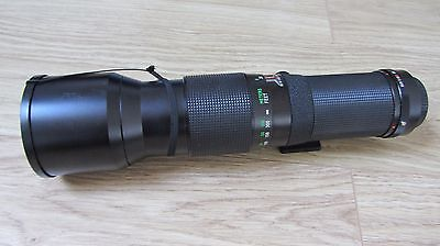 VIVITAR 400mm 1:5.6 LENS FOR KONICA K/AR LENS