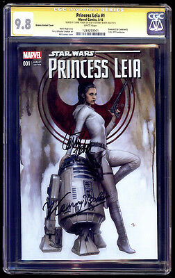 Princess Leia #1 Granov Variant SS CGC 9.8 Carrie Fisher Baker Star Wars