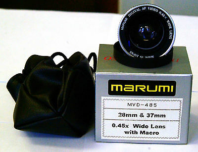 MarumI Wide Angle .45 Lens converter dual thread 28MM & 37MM with Macro