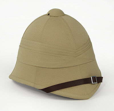 British Khaki Tropical Helmet - North African Theater - WWII Reproduction