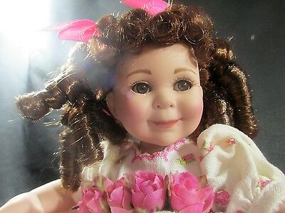 Rare Marie Osmond Porcelain Tiny Tot Doll 2007 Limited # 1925 Adorable Mint Cond