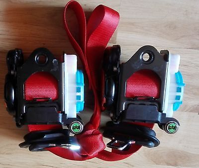 Mercedes W204 Sport Coupe Front Red Seat Belts (Pair) With Pretensioner