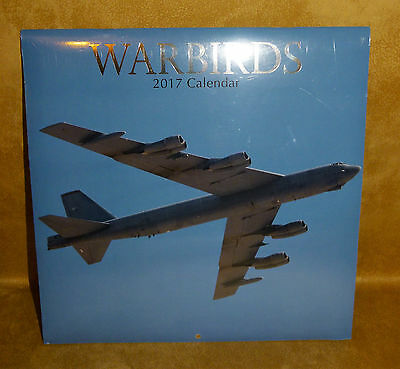 Calendar 2017 - WALL 16 month Warbirds Military Aeroplanes NEW Sealed Condition