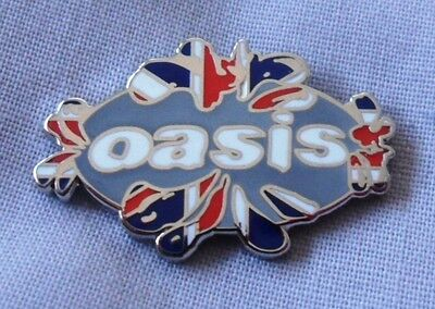 Oasis enamel badge.Liam Gallagher,Noel,Mod,B​eady Eye,Pretty Green,Lambretta