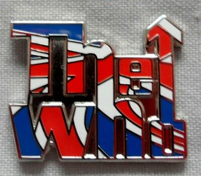 The Who 'Union Jack' logo enamel badge.Mod,Weller,Vespa