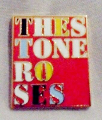 Stone Roses 'Heaton Park' Enamel Badge.Ian Brown,Primal Scream,Oasis,Tickets.