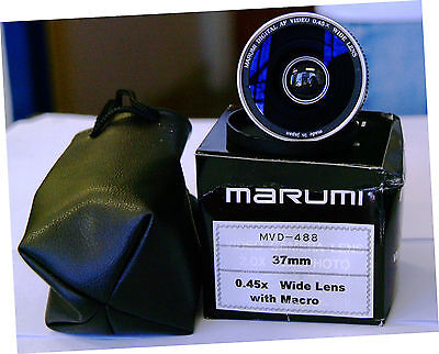 MarumI Wide Angle .45X Lens converter 37MM threads with Macro