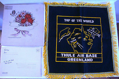 WWII Thule Naval Air Base Greenland Top Of The World Souvenir Pillow Cover & Box