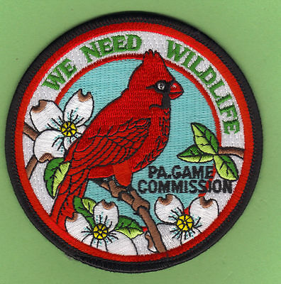 Pa Pennsylvania Game Fish Commission We Need Wildlife Male Cardinal Bird Patch