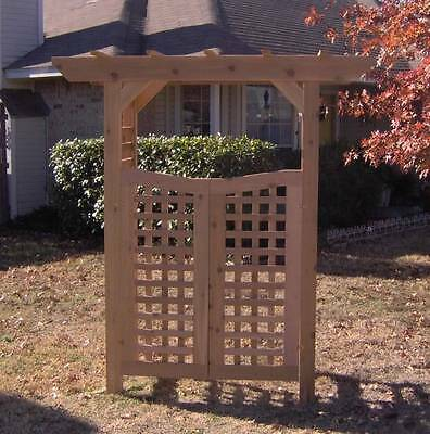 New Classic All Cedar Garden Arbor Pergola Arch With Gate