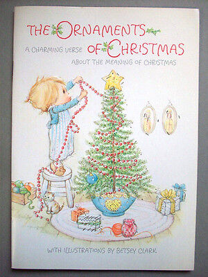 1973 Betsey Clark Ornaments of Christmas unused greeting card booklet Hallmark