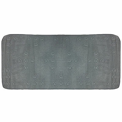 Soft Cushioned Rubber Bath Mat with Non Slip Suction Grip – Grey – 42x90 cm