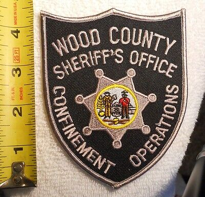 Wood County Wv Sheriff's Office Confinement Operations Patch (Police, Sheriff)