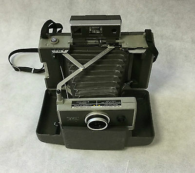 Vintage Retro 1960s Polaroid Automatic 340 Instant Land Camera Folding Bellows