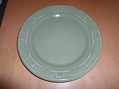 Longaberger Pottery Woven Tradition 1 Sage 9 Inch Lunch Plate USA