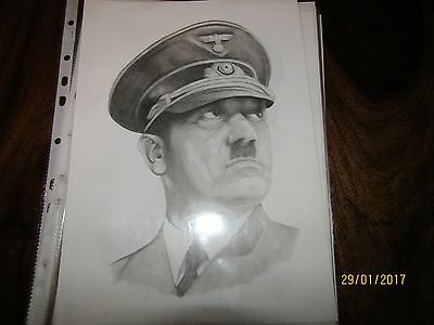 A4 Pencil Drawing of Adolf Hitler