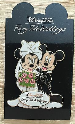 Fairy Tale Weddings HKDL Hong Kong Disneyland Mickey and Minnie Disney Pin NEW