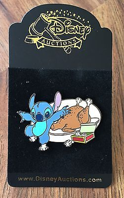 Disney Auctions Stitch with Turkey Frills Thanksgiving LE 1000 Pin NEW ON CARD