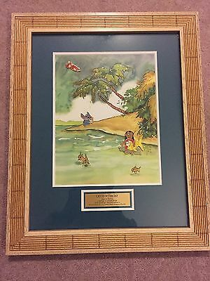Disney Lilo Stitch's High Seas Adventure LE 25 Catch of the Day Framed Pin Set