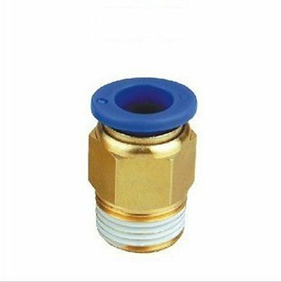 """8mm or 5/16"""" OD to 1/4"""" NPT Male Straight Push In Connect Tube Fitting N-@b7"""