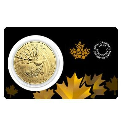 PRESALE - 2017 1 oz Canadian Gold Elk - Call of the Wild $200 .99999 Fine Gold (